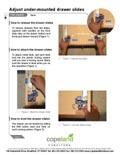 Adjust under-mounted drawer slides