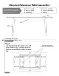 Catalina Four Leg Extension Table Assembly