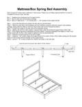 Mattress/Box Spring Bed Assembly