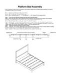 Platform Bed Assembly